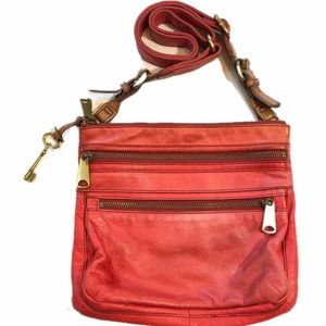 Fossil Live Love Vintage Red Crossbody